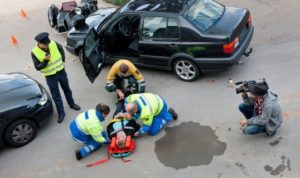 Man seriously injured in a car accident